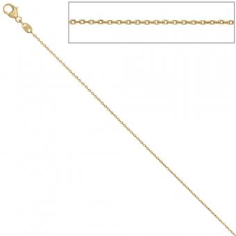Ankerkette 585 Gelbgold diamantiert 0,6 mm 42 cm Gold Kette Halskette Goldkette
