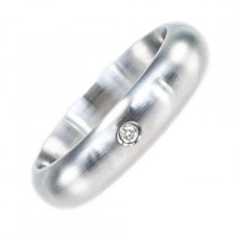 Monomania Ring Edelstahl Diamant 0,04 ct TW si RW 52 Klare- edle Ästhetik